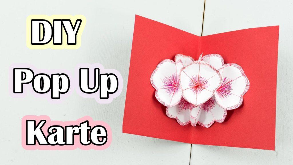 3d Pop Up Blumenkarte Basteln Schones Diy Geschenk Aus Papier