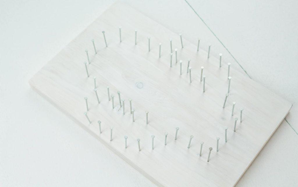 DIY Kaktus Fadenbild basteln - Schritt 4