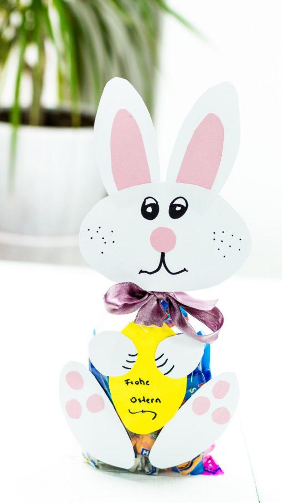 DIY Osterhase aus Papier basteln - schöne Geschenkverpackung zu Ostern - Geschenkidee Ostern