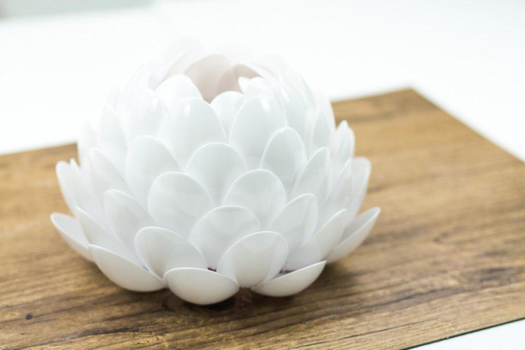 Leuchtende Lotusblume Basteln Tolle Diy Deko Idee