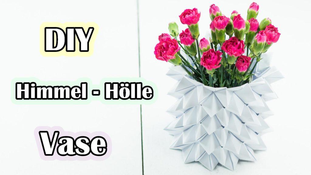 Himmel Hölle Origami Vase basteln Video Anleitung