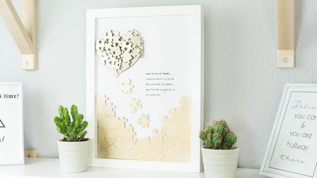 Puzzle Herz Wandbild - Video Anleitung