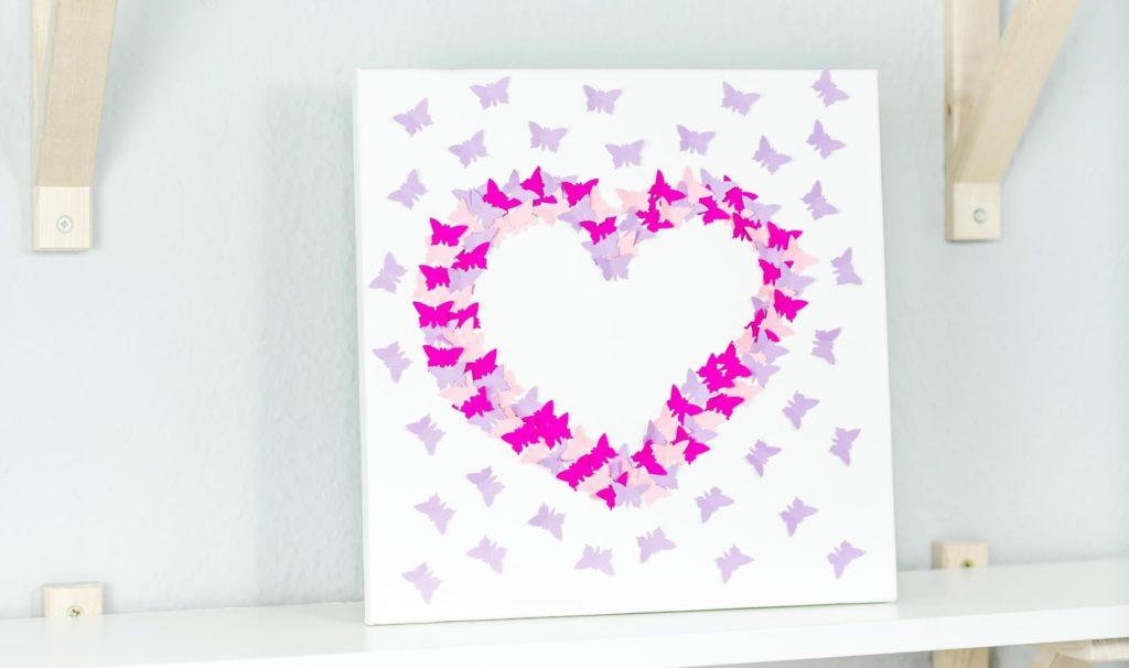 3d Wandbild Mit Schmetterlingen Basteln Tolle Geschenkidee