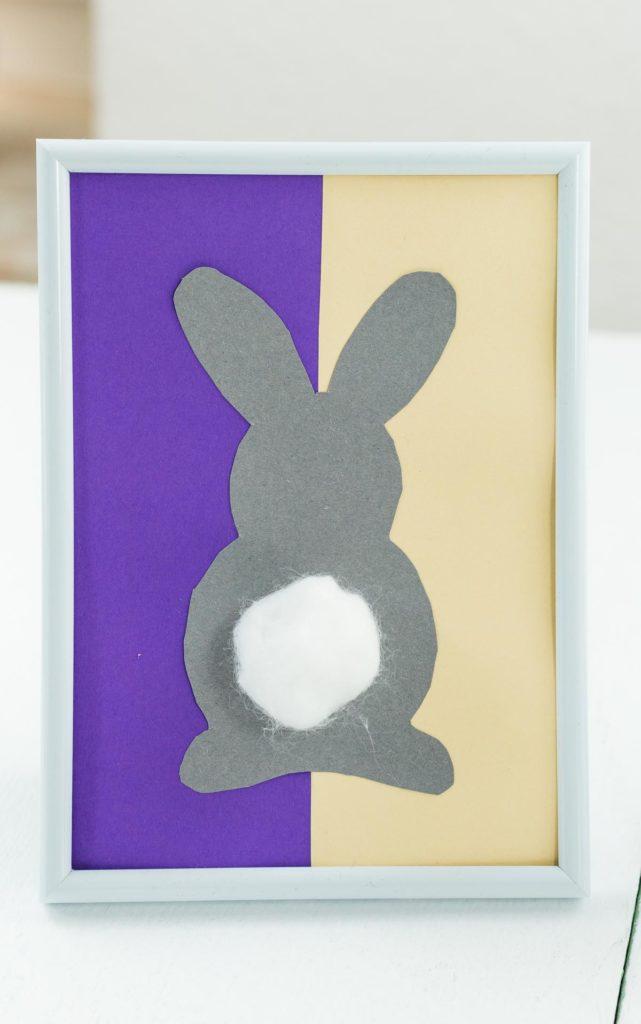 DIY Osterbild mit Osterhase basteln - schöne, günstige Deko Idee zu Ostern
