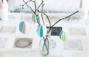 DIY Ostereier aus Papier basteln – schöne Osterdeko