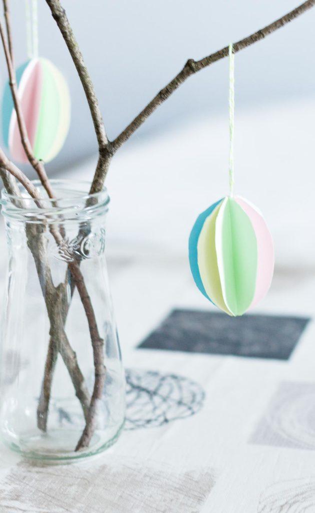 DIY Ostereier aus Papier basteln - schöne Osterdeko