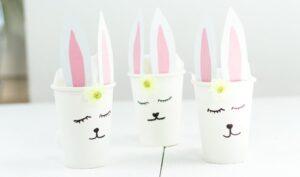 DIY Osternest im Pappbecher basteln – schöne Geschenkidee zu Ostern