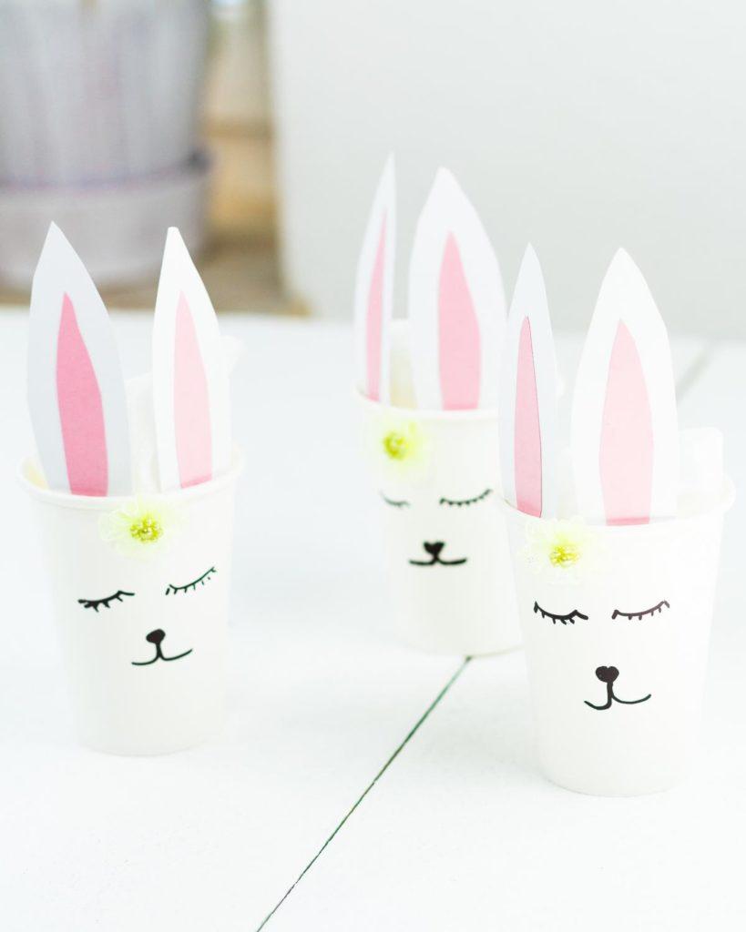 DIY Osternest mit Hasenmotiv basteln - schöne Geschenkidee zu Ostern