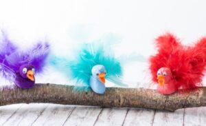 Vögel aus Modelliermasse basteln – tolle DIY Idee für den Frühling