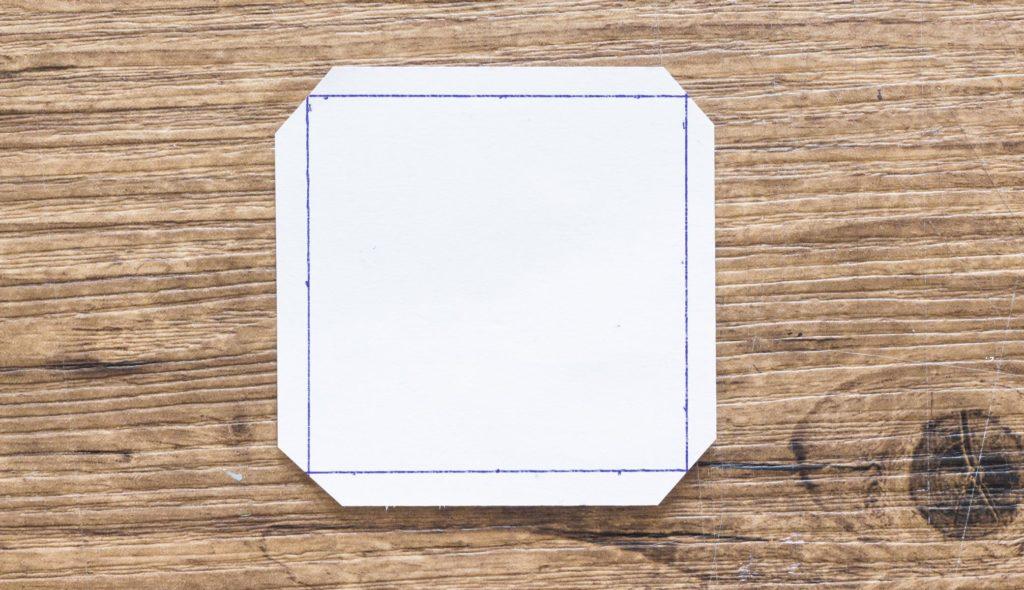 Origami Vase basteln - Schritt 4