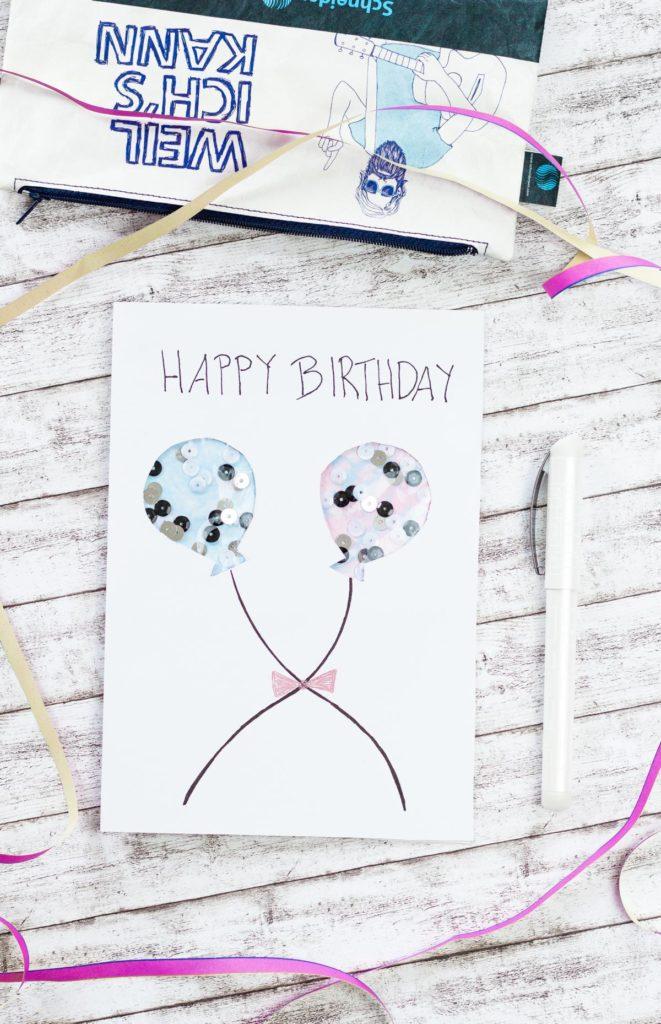 DIY Schüttelkarte zum Geburtstag basteln - mit dem Glam VIP von Schneider