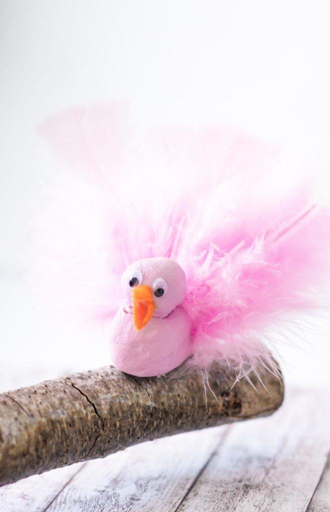 DIY Vögel aus Fimo basteln - tolle DIY Idee für den Frühling - Frühlingsdeko selber machen