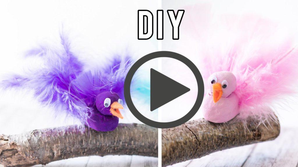 Vögel aus Fimo basteln - Video Anleitung