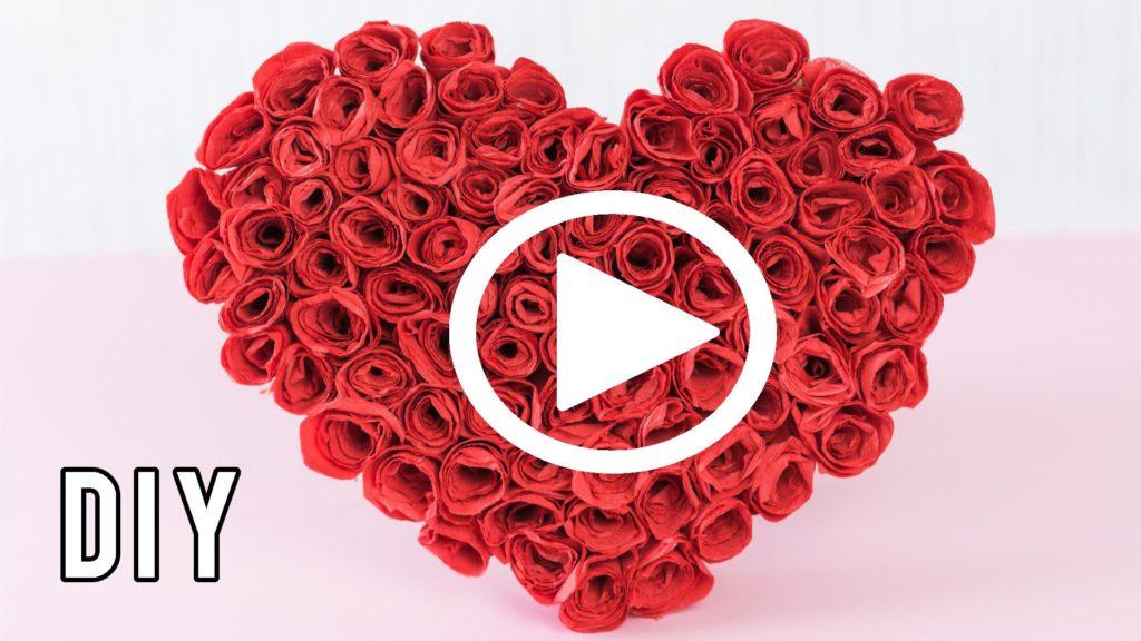 Rosenherz basteln - Video Anleitung