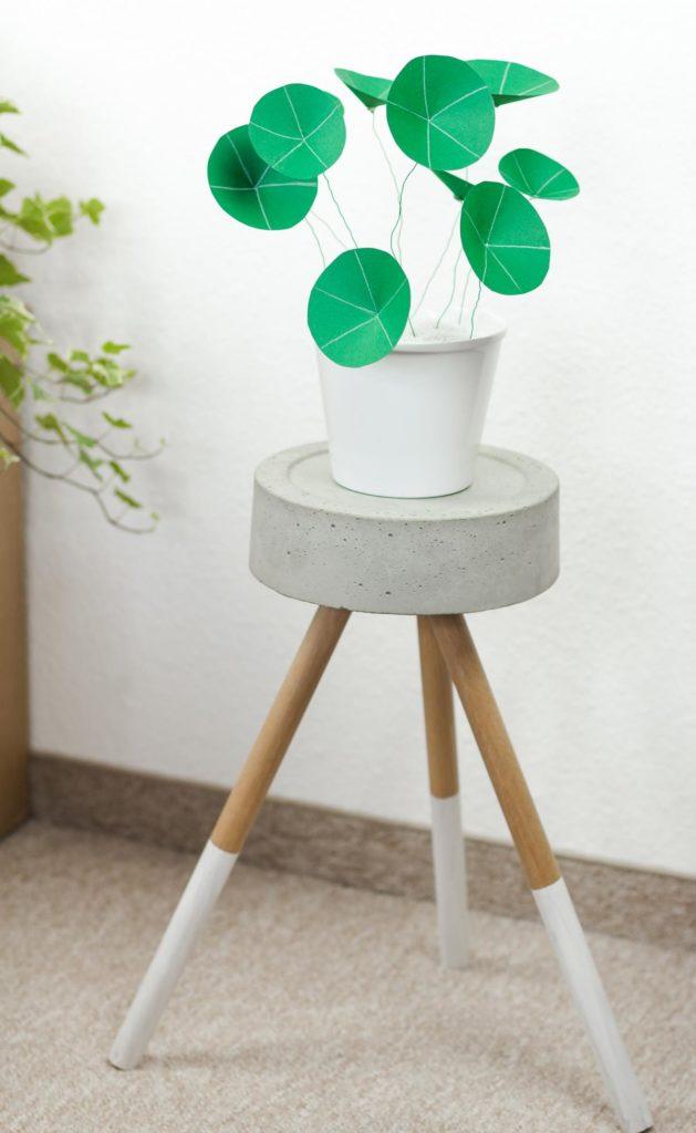 DIY Chinesischen Geldbaum basteln - schöne DIY Zimmer Deko aus Papier
