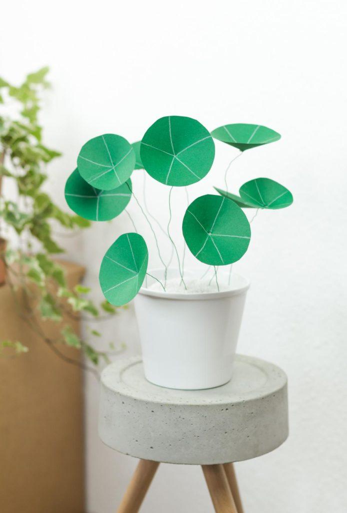 DIY Chinesischer Geldbaum aus Papier basteln