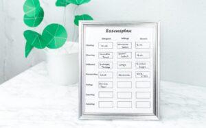 DIY Quick Tipp: Essensplan basteln + Freebie