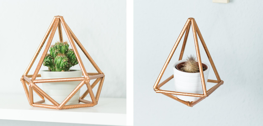 DIY Himmeli basteln – tolle, geometrische Zimmer Deko Idee