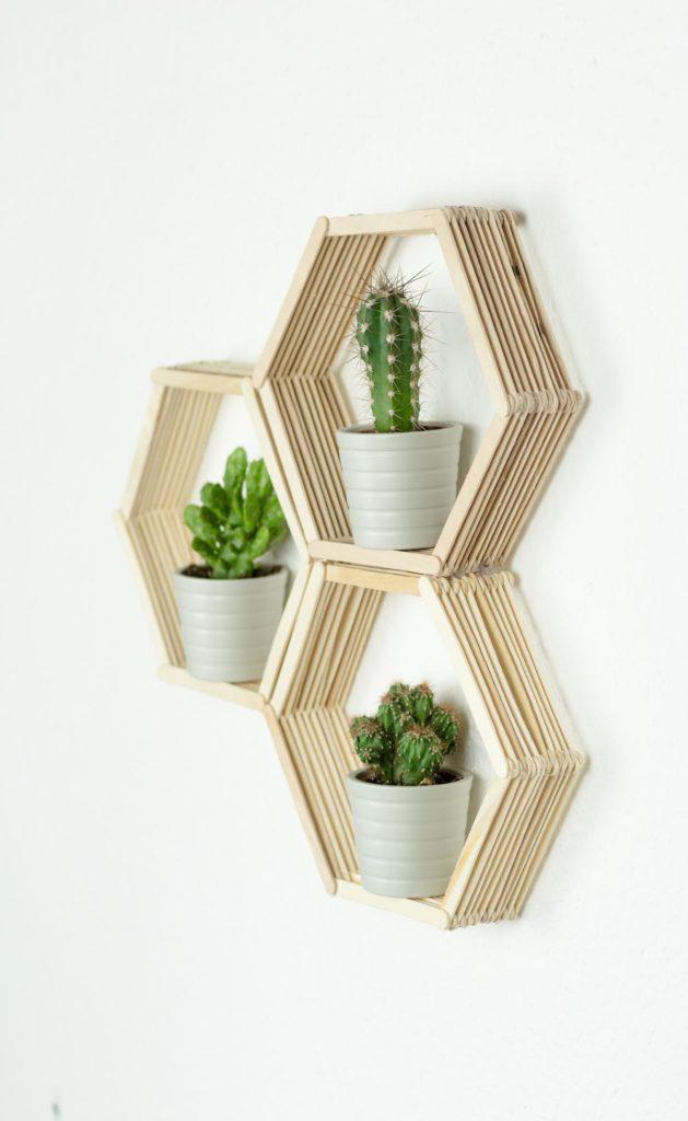 DIY Wandregal für kleine Pflanzen bauen
