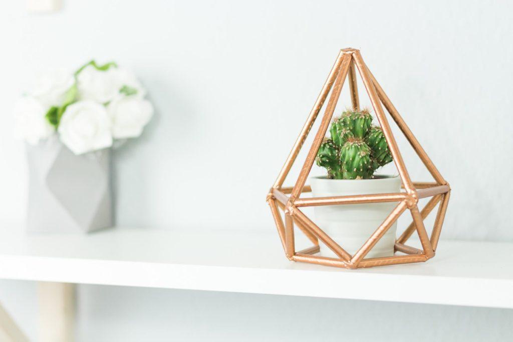 DIY Himmeli basteln - schöne DIY Zimmer Deko