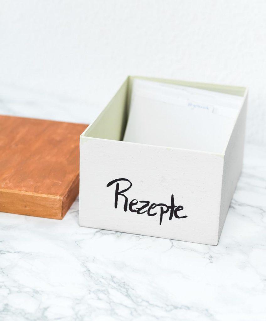 kreative Rezept Aufbewahrung - Rezeptbox selbermachen