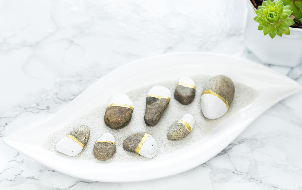 schöne DIY Deko Idee: Steine bemalen