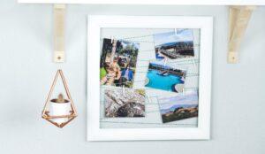 DIY Fotowand basteln – schöne Upcycling Idee für alte Bilderrahmen