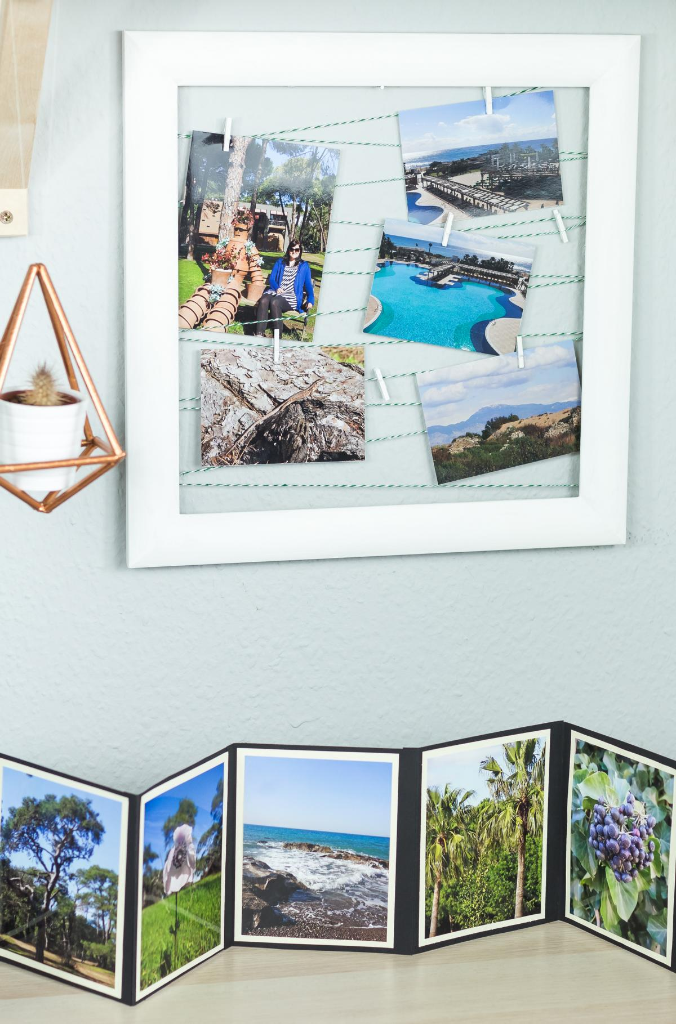 DIY Fotowand basteln - schöne, günstige Upcycling Idee für Bilderrahmen und tolle Deko in der Wohnung