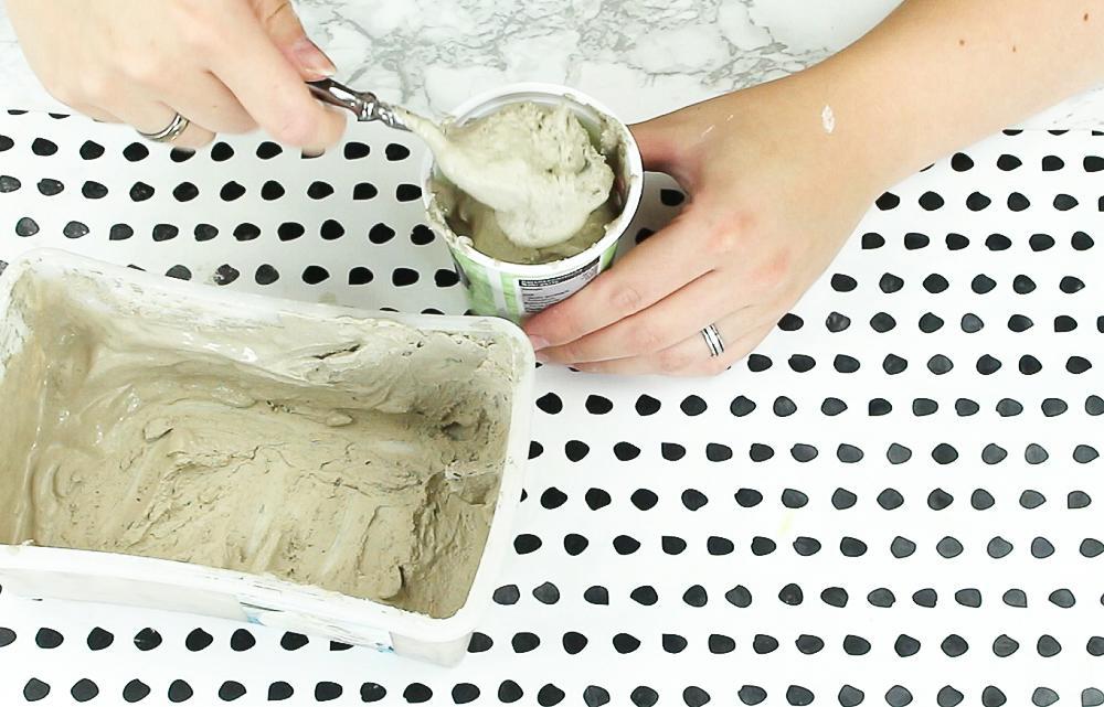 DIY Reagenzglas Vase aus Gips basteln - Schritt 2