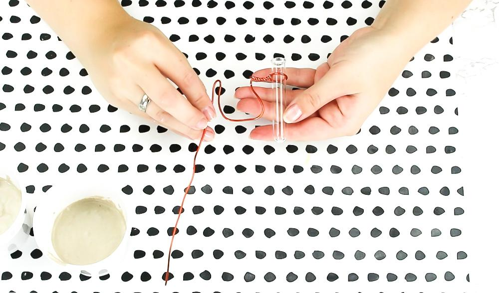DIY Reagenzglas Vase basteln - Schritt 3