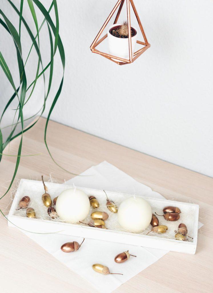 DIY Herbst Tischdeko basteln