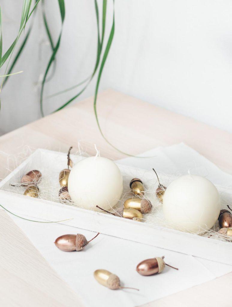 DIY Tischdeko für den Herbst basteln
