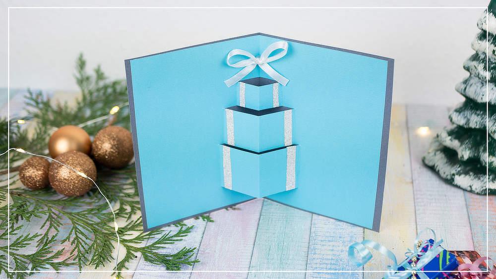 Pop Up Weihnachtskarte Geschenk