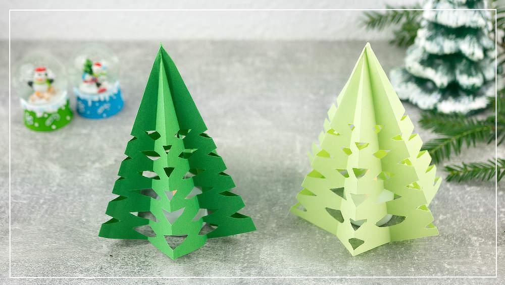 Weihnachtsbaum mit Teelicht