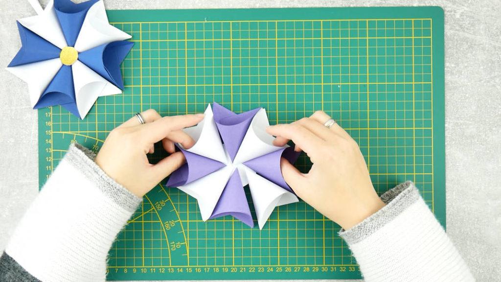 Sterne basteln - Schritt 4