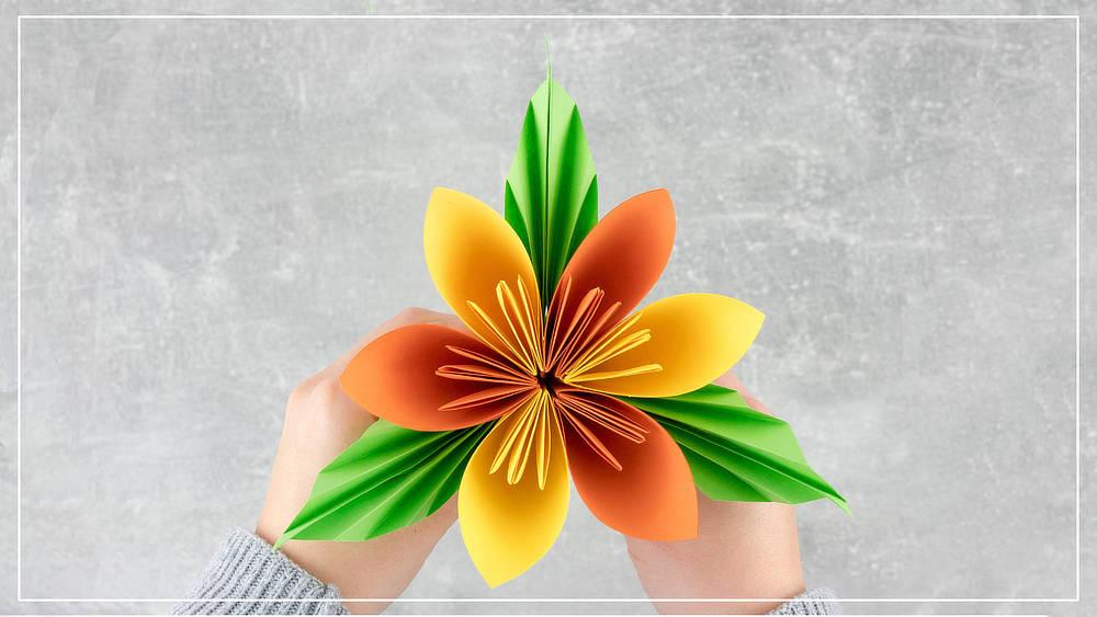 Deko Blume aus Papier basteln