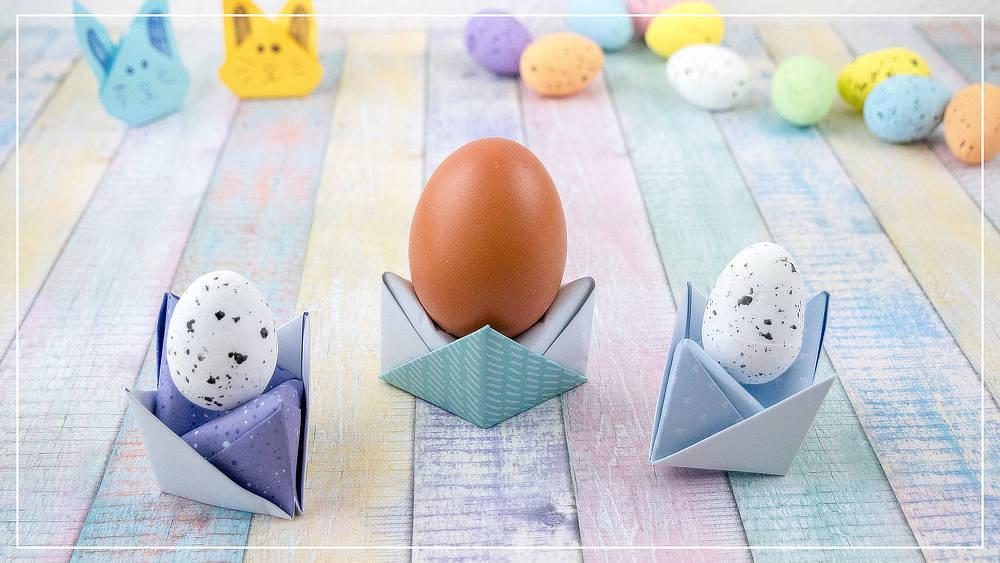 Eierbecher aus Papier basteln