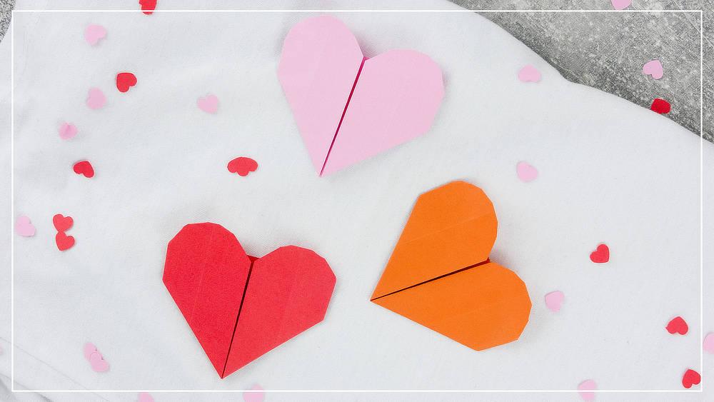 Origami Herzen
