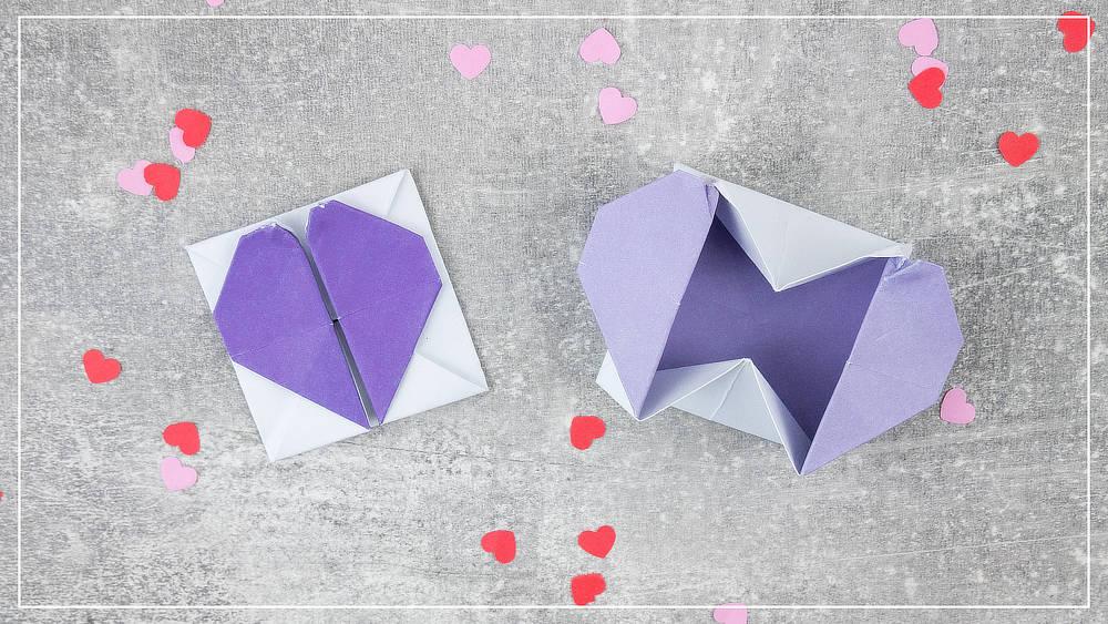 Origami Herzbox