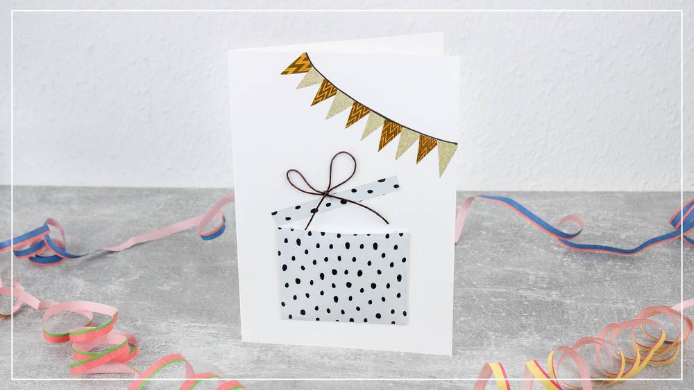 Grußkarte mit Geheimfach zum Geburtstag